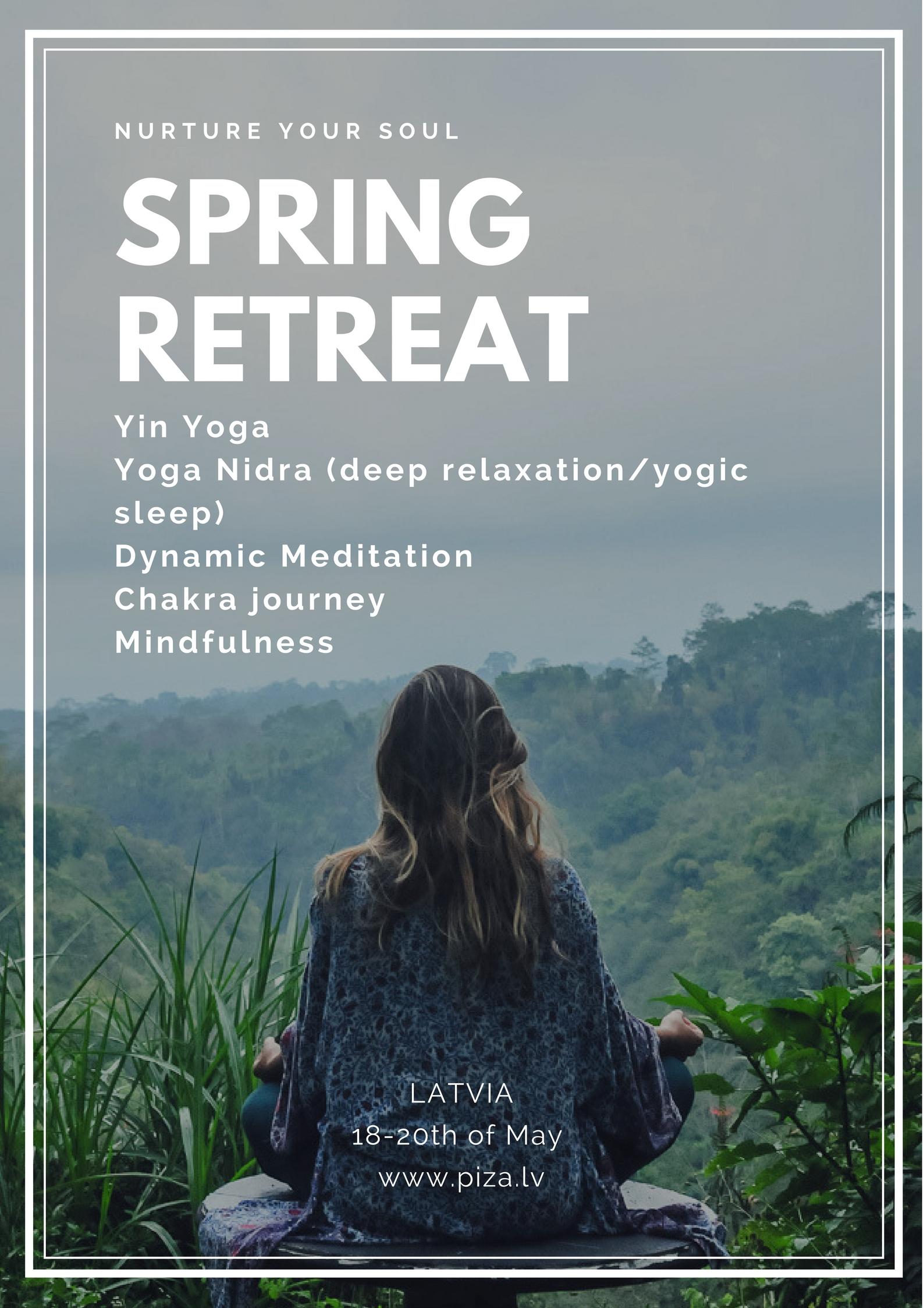 Spring retreat - nurture your soul (18.05-20.05)